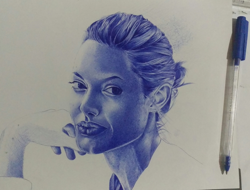 Angelina Jolie by Ghislain